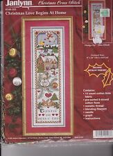 counted cross stitch kit  Christmas Love Begins at Home   Janlynn