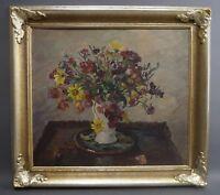 Oskar FREY (Stuttgart 1883-1966 Ebingen/Albstad) - Blumenstrauß Frühlingsblumen