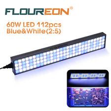 60W White Blue LED Aquarium Light Bar for Coral Reef Marine Grow Fish Tank Lamp