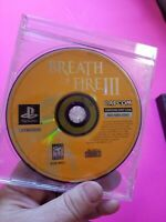 BREATH OF FIRE III 3 VIDEO GAME RPG Playstation One 1 PS1 - TESTED - Disc Only