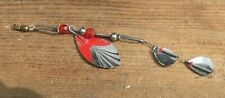 Vntg 10,000 Lakes, St. Paul Mn Spoons, Faceted Red Glass Beads & Springs Rigging