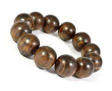 20 MM Original Black Agarwood (Aetoxylon Sp.) Bracelet 12 Beads