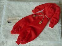 Vintage 1970 BARBIE Doll Clothing Harem-m-m Red Jumpsuit with belt #1784 Mattel