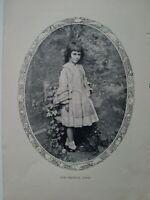 1898 Lewis Carroll's original Alice in Wonderland magazine photo clipping