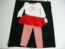 Carters 12 Month Girls Outfit Daddy'S Little Valentine (New With Tags)