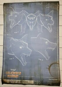 2021 Spirit Halloween Factory Blueprint Poster - Cerberus Animatronic Dog Head