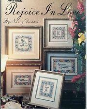 Leisure Arts Cross Stitch Pattern Booklet REJOICE IN LOVE 5 Designs Vintage