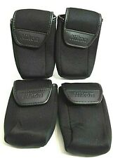 Lot Of 4 Genuine NEW Nikon Neoprene Hook/Loop Cases For Small Digital Cameras RL