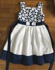 ~ Jona Michelle Navy flower White Fancy Party Dress Sizes 8 & 10 girl