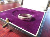 Toller 925 Silber Ring Unisex Schlicht Einfach Rillen Sterling Used Look Vintage