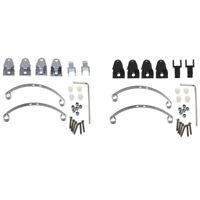 2X(Steel Leaf Spring Suspension Set for WPL Henglong B14 B16 B24 B36 Ural Q H2A6