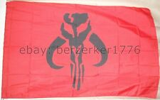 Mandalorian Boba Fett 3' x 5' Red Flag Banner Star Wars Usa Seller Shipper