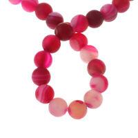 Natürliche Streifen Achat Perlen Kugel Fuchsia Pink 6mm Edelsteine Natur G315