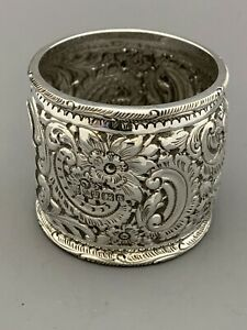 Large Victorian SILVER Napkin Ring