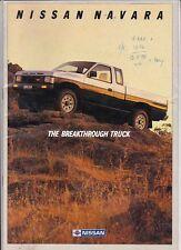 1988 NISSAN NAVARA Range Australian Brochure PICKUP KING CAB DUAL CAB 4x2 4x4