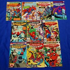 The Amazing Spiderman Lot of 10 Comics #148-196 Bronze Age Marvel Key High Grade