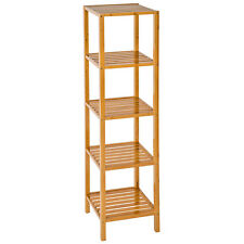 bamboo bathroom shelving units furniture for sale ebay rh ebay co uk