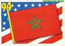 355 FLAG DRAPEAU MOROCCO MAROC RED BACK VIGNETTE STICKER USA 94 BROCA