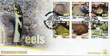 Ascension Island 2017 FDC Eels 6v Set Cover Moray Eel Fish Fishes Marine Stamps
