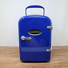 Igloo MIS129 Blue Retro 6 Can Portable Mini Compact Fridge Warmer Cooler