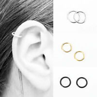 Fashion Stainless Steel Piercing Hoop Earring Helix Nose Ear Cartilage Ring USA