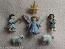 Vestirla Botones ~ Navidad ~ El Buen Pastor ~ Angel ~ pastores ~ Ovejas