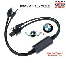 Y LIGHTNING CABLE LEAD FOR BMW MINI - IPHONE 6 & IPHONE 6 PLUS