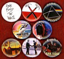 "Pink Floyd x 8 NEW 1"" pin buttons badges syd barrett wall animals dark side moon"