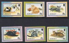 JERSEY 2002 CATS SET OF 6 UNMOUNTED MINT