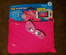 Zipit Talking Monstar Monster Talking 3 Ring Pouch Pink Pencil Pouch Sky New