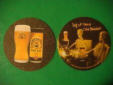 Beer Coaster Mats *~* BODDINGTONS Pub Ale <> Dig Up Some Cold Boddies <> 1778 UK