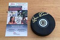 Jean Ratelle Boston Bruins HOFer Autograph Signed Hockey Puck JSA COA