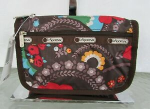 Lesportsac Travel Cosmetic Fantazmic Floral Make-up Bag Pouch NWT