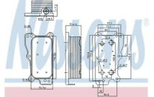 NISSENS Radiador de aceite motor 90783