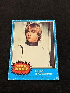 1977 Topps Star Wars Blue Series Trading Card #1, Luke Skywalker, Good