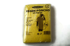 2 x Notfall Poncho mit Kapuze Gelb – Regenponcho Regenmantel Regenjacke
