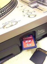 Technics SL-DZ-1200 sldz1200 Sd Card 1Gb Serato/Traktor/Virtual Dj/Torq & More
