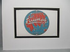 Triumph Britain Car Logo Emblem Decal by Artist Color Illustration exhibit