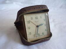 Vintage Helveco Repeater Travel Alarm Clock - Working - Switzerland made