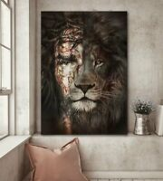 The Perfection Of Jesus & Lion Wall Art Canvas Home Decor