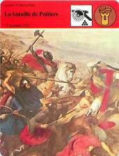 FICHE CARD La bataille de Poitiers 732 Charles Martel & les Sarrasins France 90s