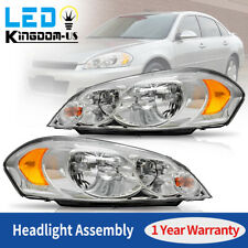 For 2009 Chevy Impala 06 07 Monte Carlo Chrome Housing Headlights Assembly Pair Fits 2006 Impala