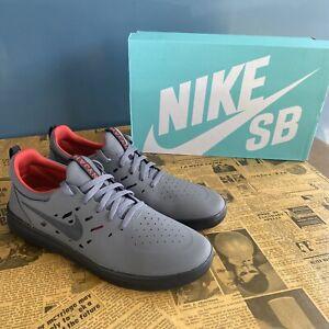 Nike SB Nyjah Free Dark Grey Black & Gym Red Skate Shoes AA4272-005