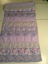 Handmade Lavender Floral  Quilted Table Runner/Scarf 16 x 43 ins