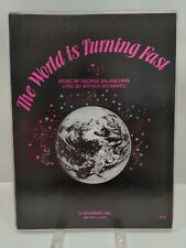 The World Is Turning Fast Sheet Music George Balanchine Piano Voice F2F