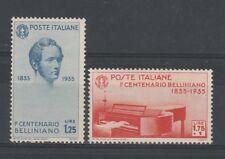 FRANCOBOLLI - 1935 REGNO BELLINI L. 1,75 + L. 1,25 MLH Z/7518