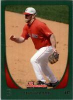 2011 Bowman Green Boston Red Sox Baseball Card #186 Kevin Youkilis /450