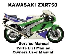 ZXR750 ZX-7 750 Owners Workshop Service Repair Parts Manual PDF on CDR ZXR ZX750