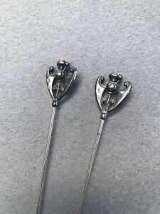Charles Horner Antique Silver Hat Pins