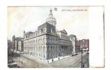 MD Baltimore Maryland antique post card City Hall View